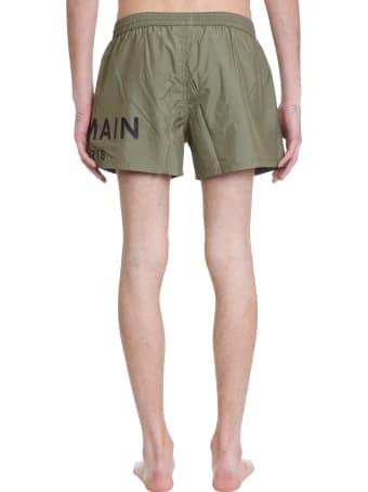 Balmain Beachwear In Green Polyamide
