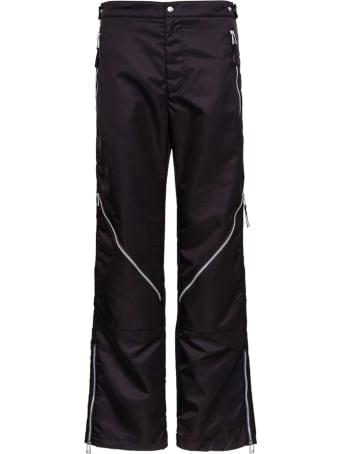 Bottega Veneta Brown Nylon Pants With Zip Detail