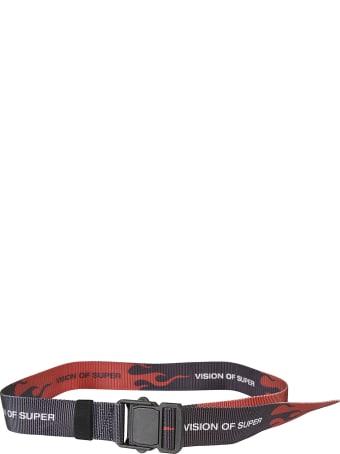 Vision of Super Flame Logo Print Belt