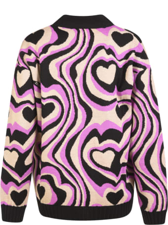 MSGM Heart Cardigan