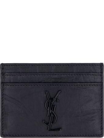 Saint Laurent Cocco Print Leather Card Holder
