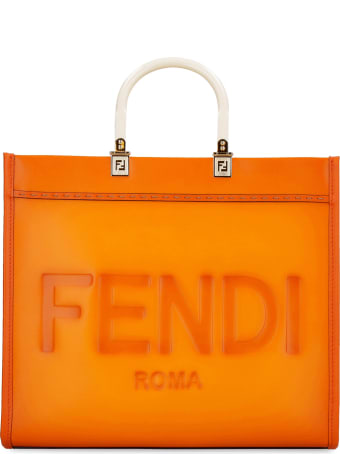 Fendi Sunshine Leather Tote