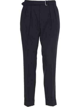 Officine Générale Blue Linen Trousers