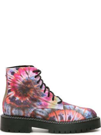 Dawni Tie-dye Combat Boots