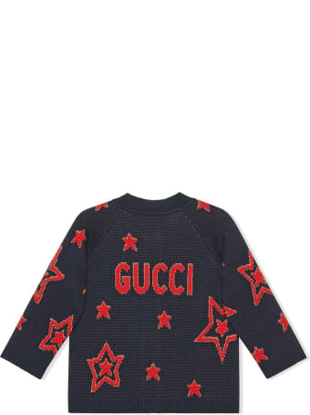 Gucci Navy Wool-blend Cardigan