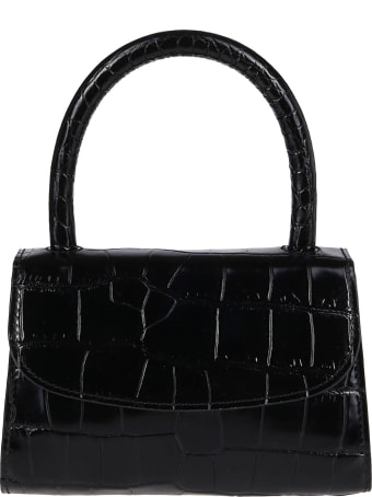BY FAR Black Leather Miranda Mini Bag