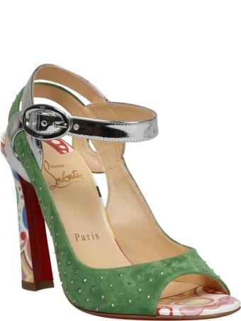Christian Louboutin Loopinga Toe Plume Sandals