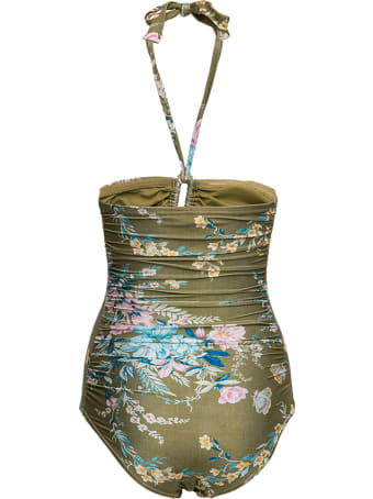 Zimmermann Cassia Wide Swimsuit With Floral Print