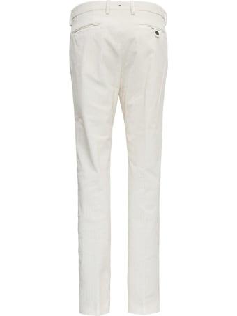 Berwich White  Velvet Pants