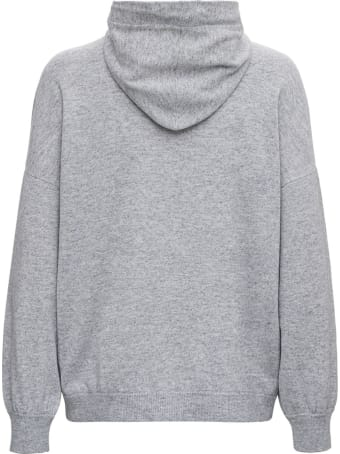 Brunello Cucinelli Wool And Cashmere Gray Hoodie