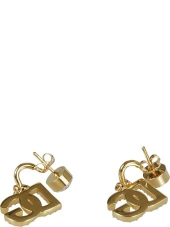 Dolce & Gabbana Logo Embellished Earrings
