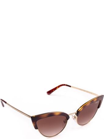 Vogue Eyewear Vogue Vo5212s Top Dark Havana / Pale Gold Sunglasses