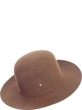 Super Duper Hats Round Crown Large Raw Brim