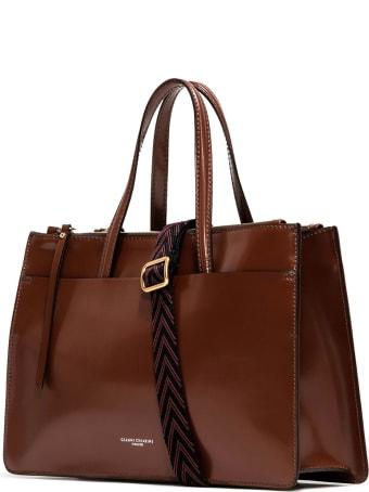 Gianni Chiarini Tobacco Shopping Bag