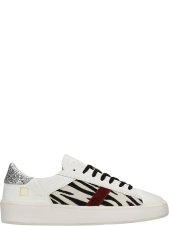 D.A.T.E. Ace Sneakers In White Leather