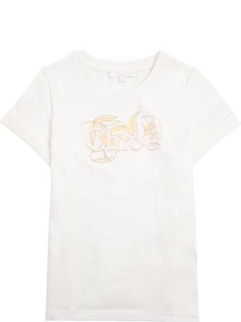 Chloé Cotton T-shirt With Logo