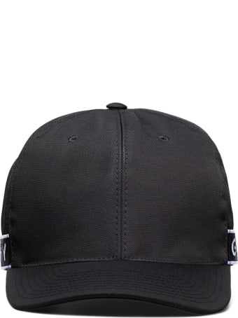 Givenchy Man Black Baseball Cap With Givenchy 4g Stripe