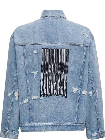 Balenciaga Large Fit Jacket In Organic Vintage Denim