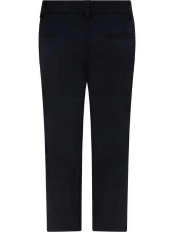 Emporio Armani Blue Trouser For Boy With Iconic Eagle