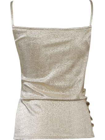 Paco Rabanne Button Sided Glitter Top