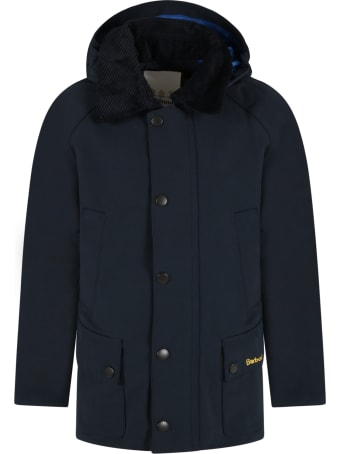 Barbour Blue Jacket For Boy With Logo