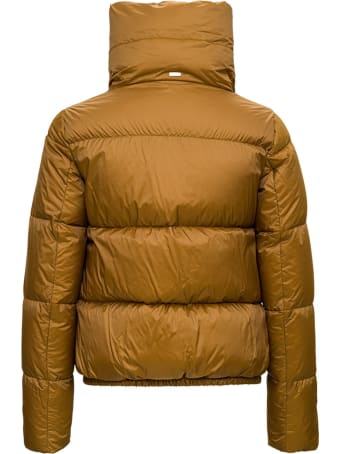 Herno Burge Down Jacket In Ocher Nylon