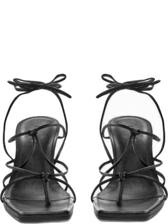 Vic Matié Vic Matiè Black Spool Sandal
