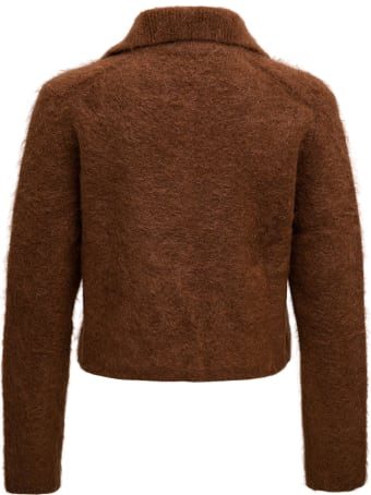 Andersson Bell Brown Cropped Mohair Blend Jacket