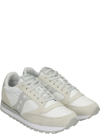 Saucony Jazz O Sneakers In White Suede And Fabric
