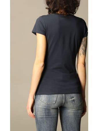 Armani Collezioni Armani Exchange T-shirt Half Sleeve Crewneck Sequin Logo Writing