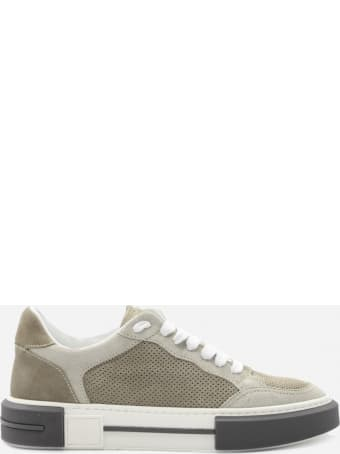 Eleventy Leather Sneakers With Perforated Details
