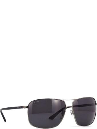Gucci Gucci Gg0065sk Ruthenium Sunglasses