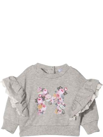 Monnalisa Newborn Gray Sweatshirt