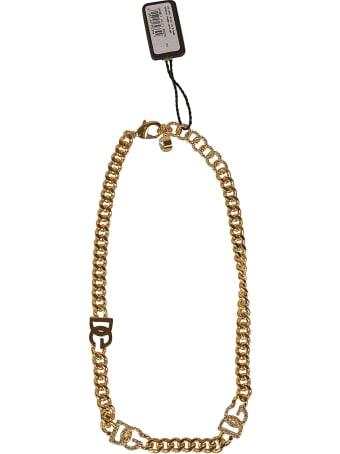 Dolce & Gabbana Chain Logo Necklace
