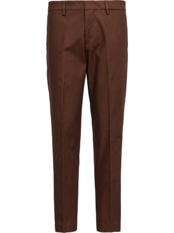 costumein Brown Tailored Cotton Gabardine Trousers