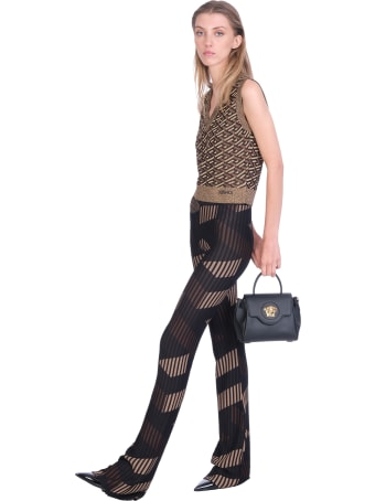 Versace Knitwear In Black Viscose