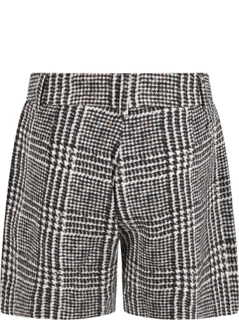 Ermanno Scervino Junior Multicolor Shorts For Girl With Logo Patch