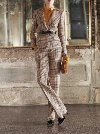 Genny Prince Of Wales Jacquard-print Blazer
