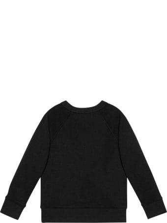 Gucci Black Sweatshirt With Multicolor Print