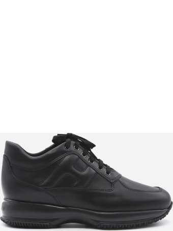 Hogan Interactive Sneakers In Leather