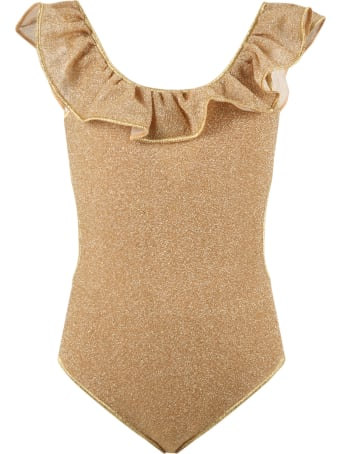 Oseree Gold Swimsuit For Girl