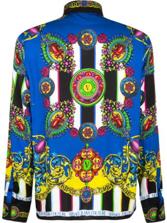 Versace Jeans Couture Reg Print Panel Stripe Shirt