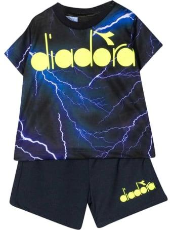 Diadora Black Fluo Diadora Kids Set