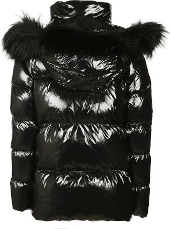 Blauer Fur Detail Padded Jacket