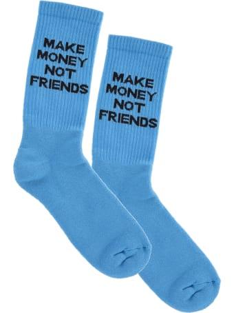 Make Money Not Friends Light Blue Make Money Not Friends Socks