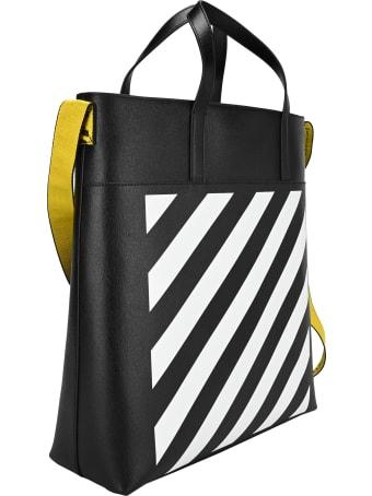 Off-White Off White Logo Tape Detail Tote Bag