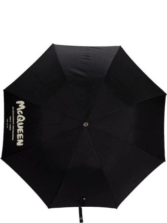 Alexander McQueen Black Mcqueen Graffiti Umbrella
