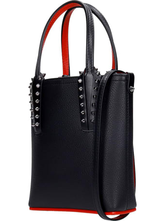 Christian Louboutin Cabata Hand Bag In Black Leather