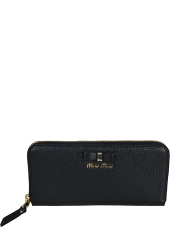 Miu Miu Zip-around Logo Continental Wallet