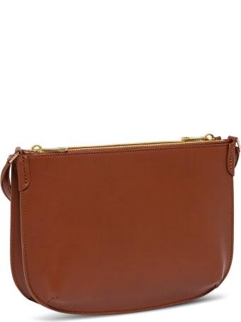 A.P.C. Sac Denìmi Lune Leather Crossbody Bag